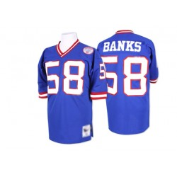 Authentic Men's Carl Banks Royal Blue Home Jersey - #58 Football ...
